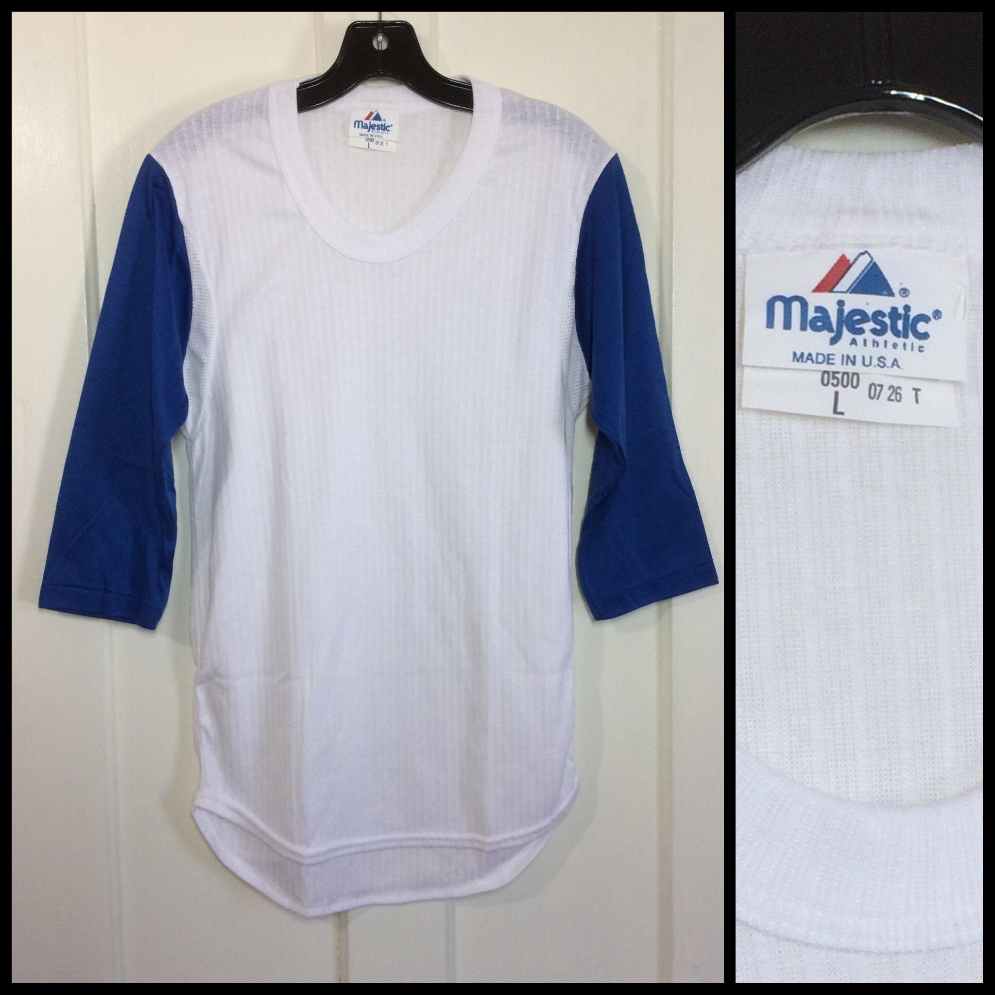 1970 s deadstock baseball jersey style t-shirt size large  59d971893