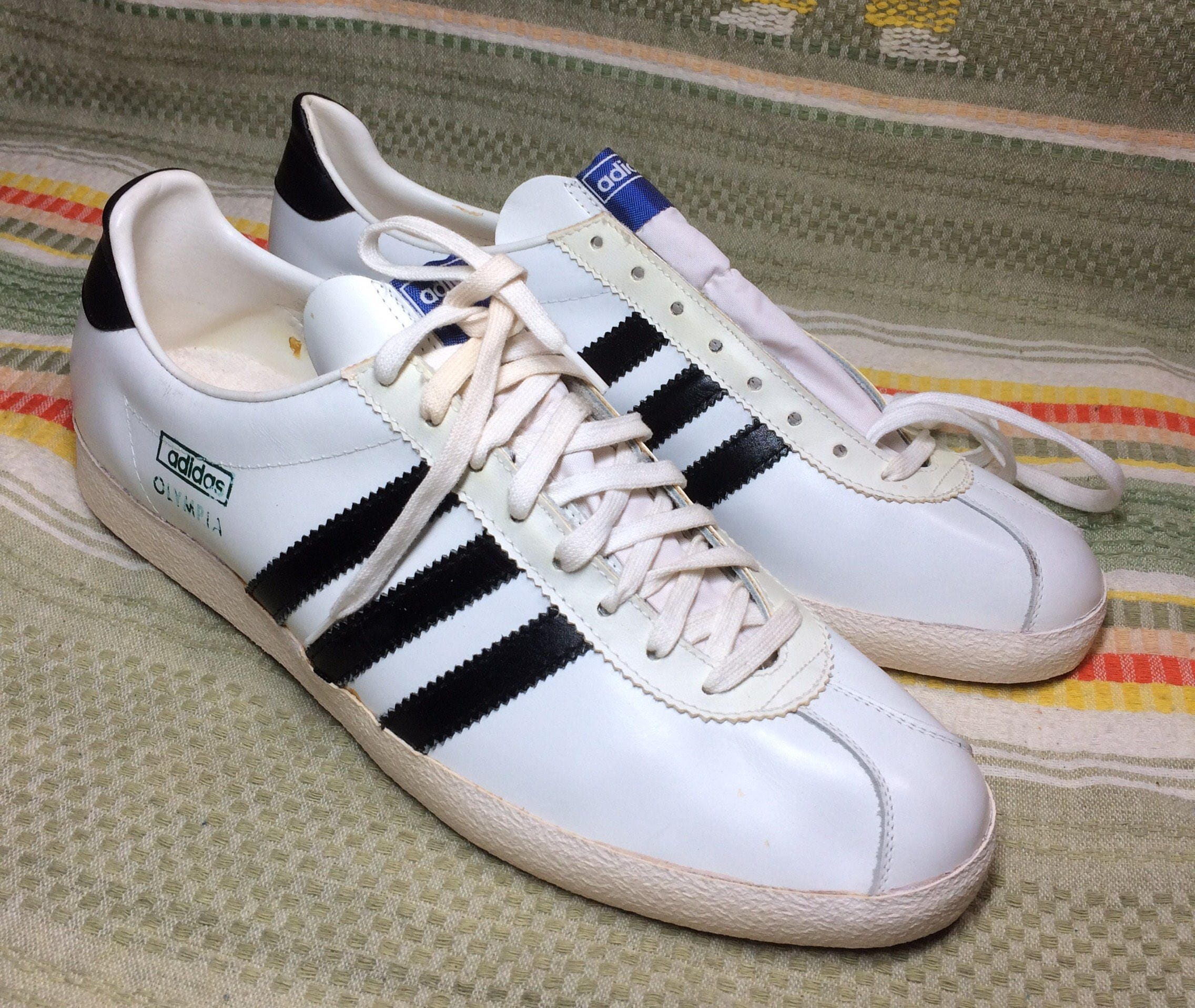 a5586290a9 payment 2 on deadstock 1970 s Adidas leather Olympia Sneakers size ...
