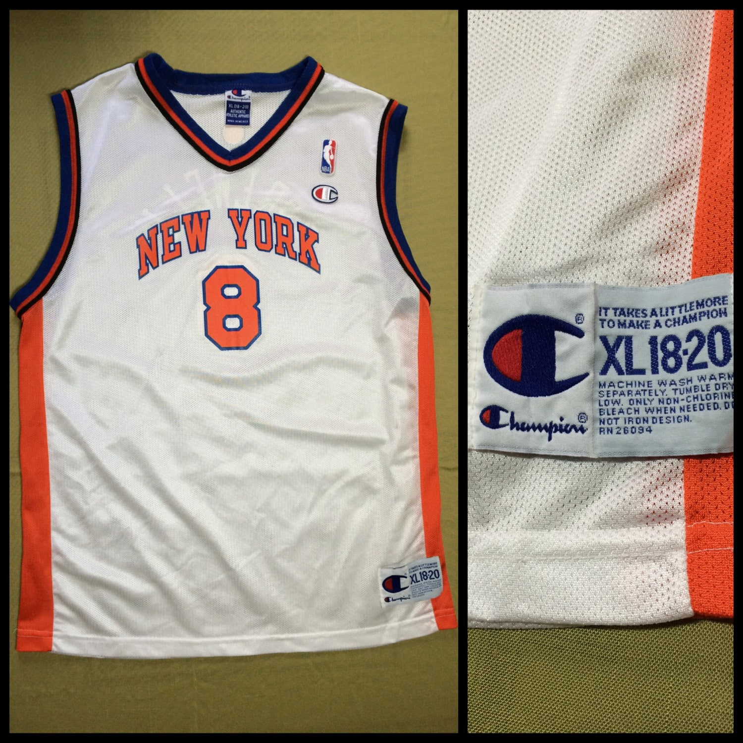 c226c097e 1990s Latrell Sprewell New York Knicks number 8 NBA Basketball ...