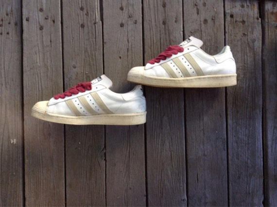 hot sale online 83bc0 c6101 Adidas Superstar hecha original Vintage 1980 en la parte   Etsy
