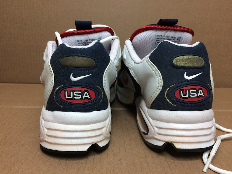 b4758572c34c6 deadstock Nike Air Max Triax 96 USA Olympics running shoes size 7 red white  blue gold swoosh trainers kicks sneakers 1990s NIB new in box