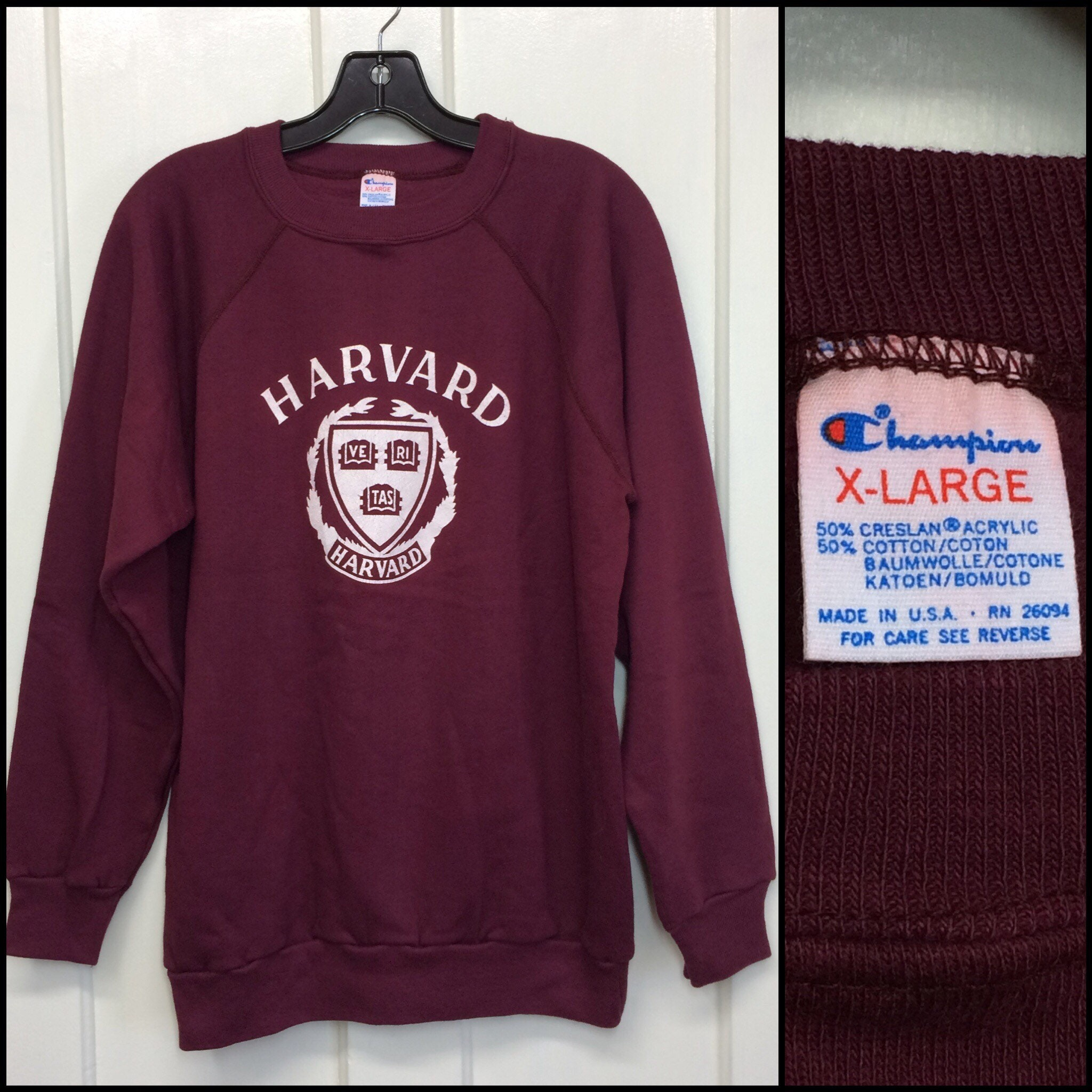 e50ad61d7a99 1980s Harvard University Ivy League college school emblem ...
