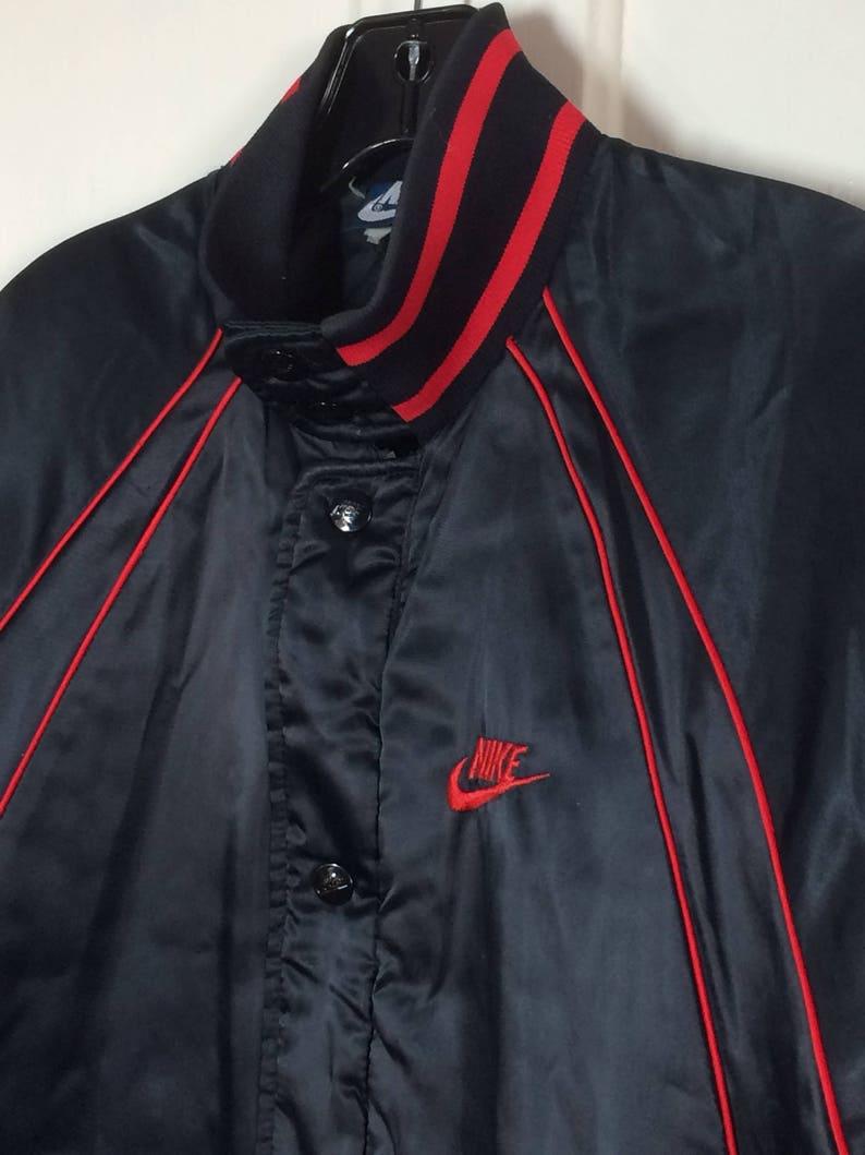 77d892f91b2723 1980s 1985 Air Jordan 1 wings basketball satin bomber jacket
