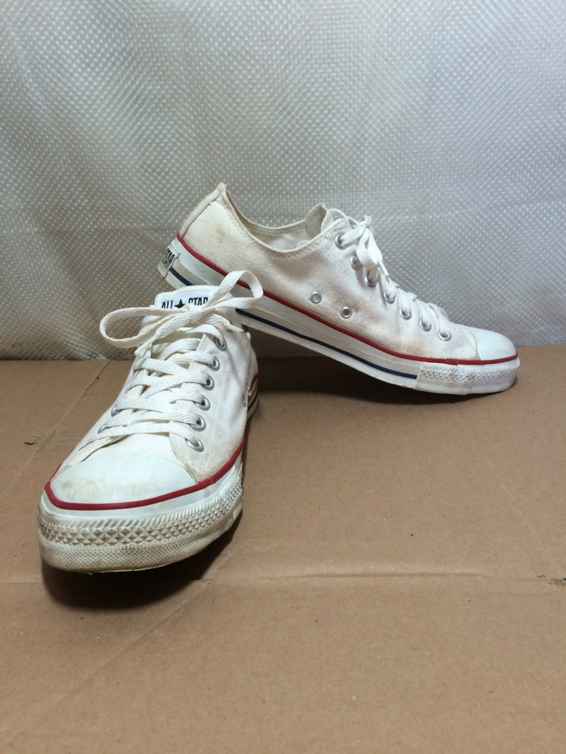 7b4cfb77d50c 1990 s White Converse Allstars size 11.5 made in USA Chuck