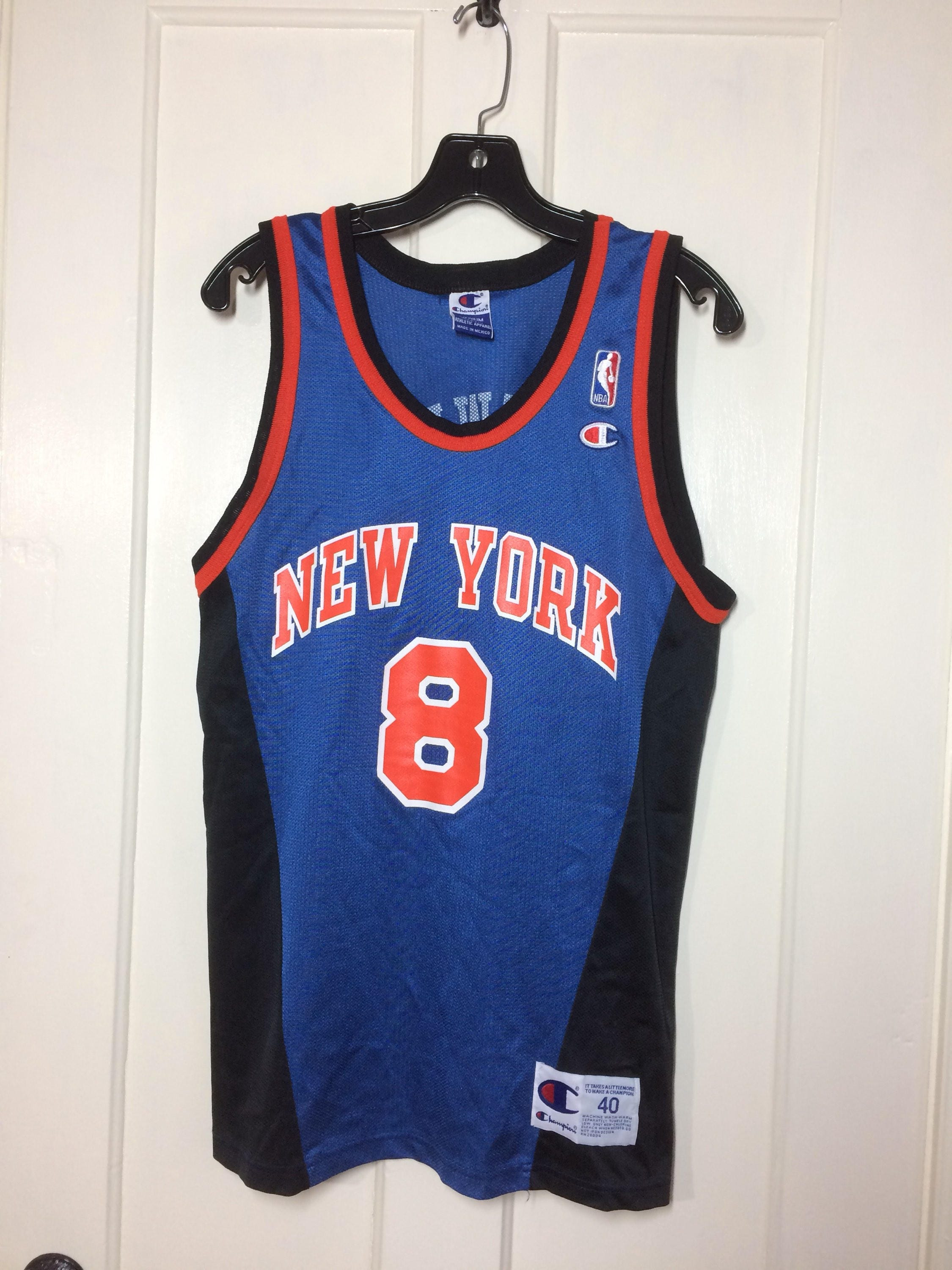 1990s Latrell Sprewell New York Knicks number 8 NBA Basketball ... 3a2239d0c