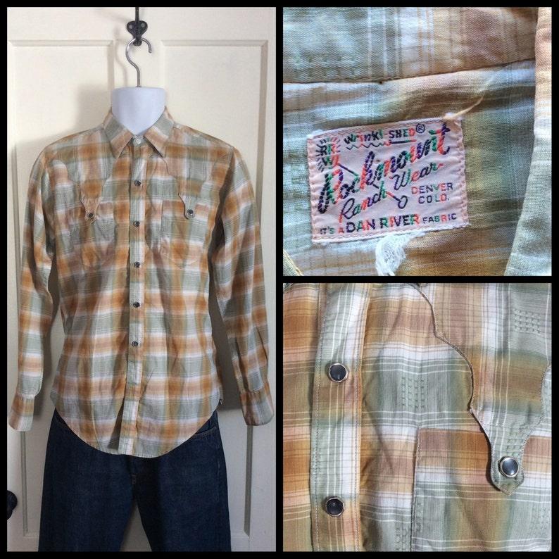 4e997c52 1950's Vintage Rockmount Shadow Plaid Mens Shirt looks | Etsy