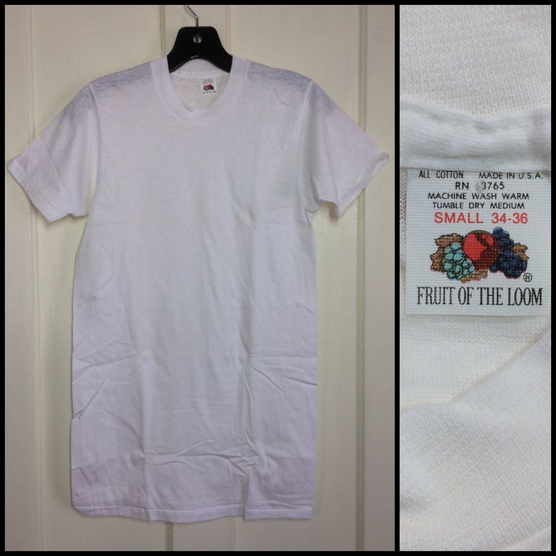 50f09a0c 1970s deadstock plain blank thin white all cotton Fruit of the   Etsy