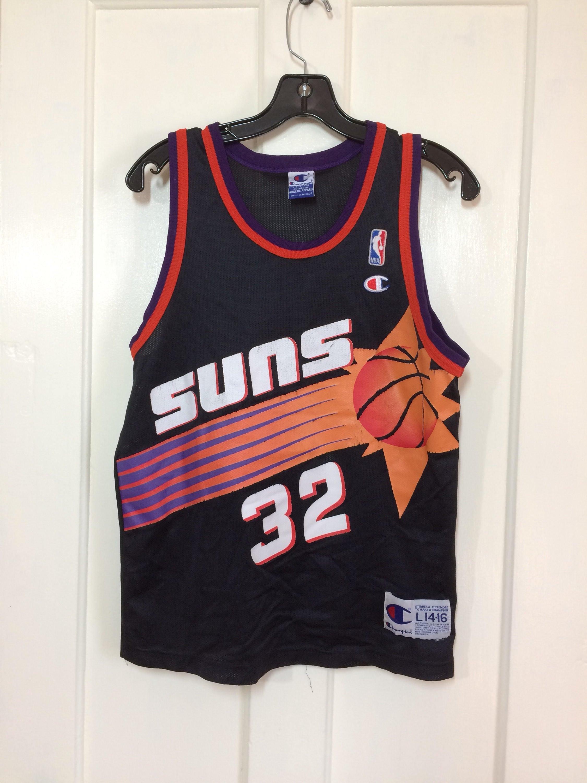 8e766ead64b7 1990 s Phoenix Suns Jason Kidd number 32 NBA Basketball team ...
