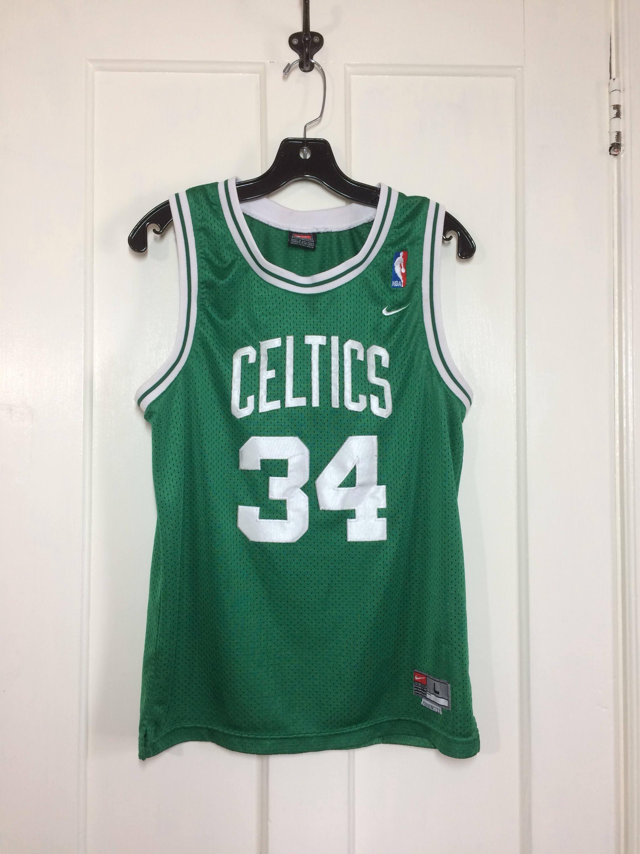 bf60cc11f 1990 s Boston Celtics Paul Pierce  34 sewn basketball team Nike ...