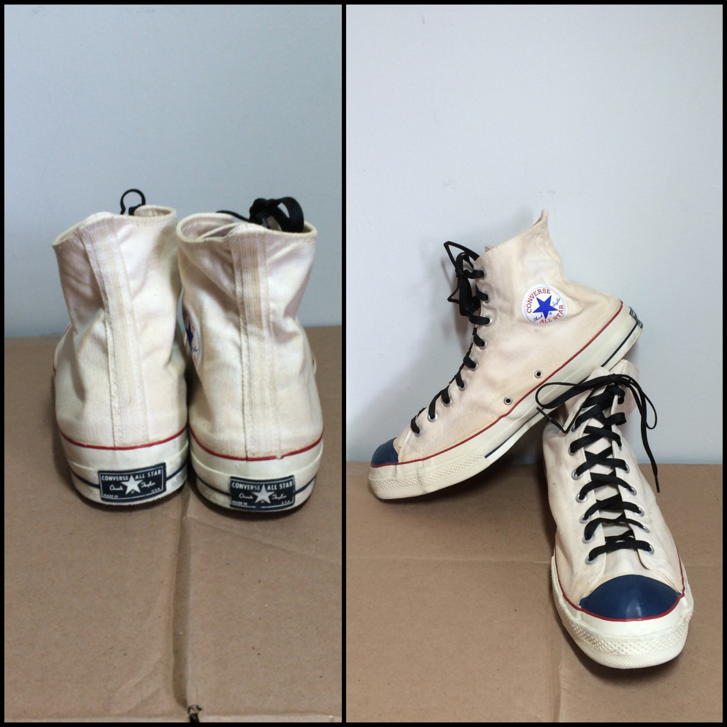01ebcd6a5b94 Vintage 1960 s Converse Chuck Taylor Made in USA white canvas ...