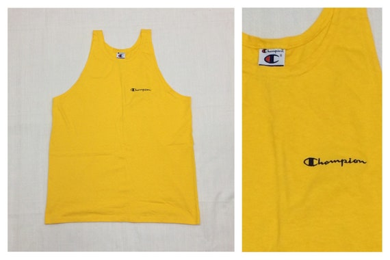 1990s Champion brand tank top with embroidered log