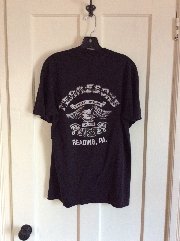 1982 Biker Babe Dude Harley Davidson Motorcycle T Shirt Size L