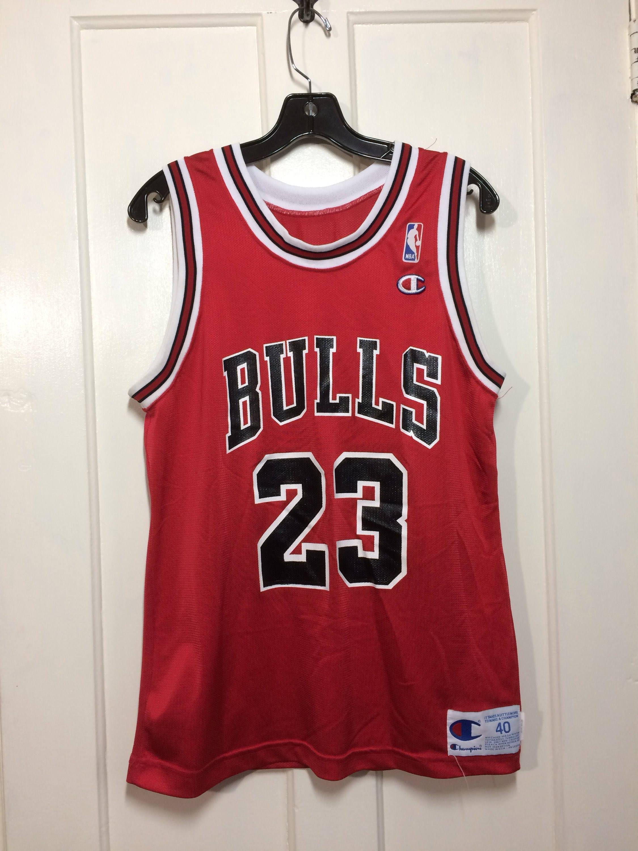 uk availability 3d2e8 72531 1990's Michael Jordan Chicago Bulls number 23 Red black ...