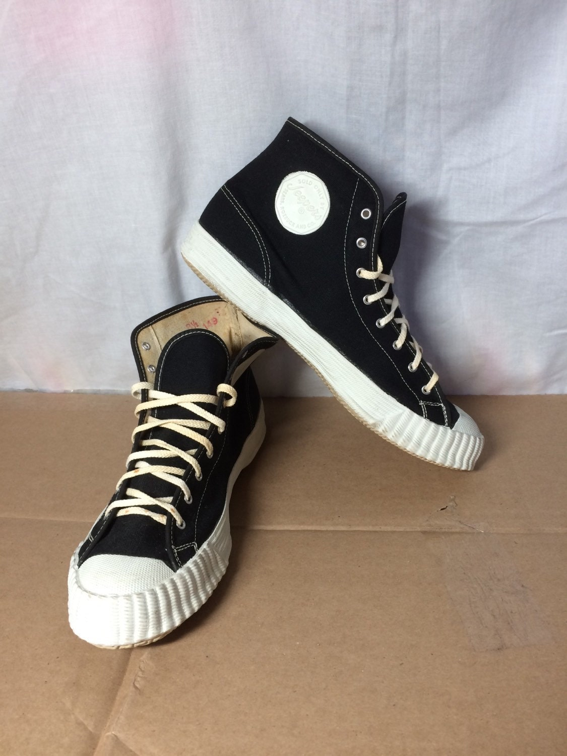 deadstock 1950 s Sears   Roebuck Jeepers Converse Canvas Shoes ... 0f08f3362