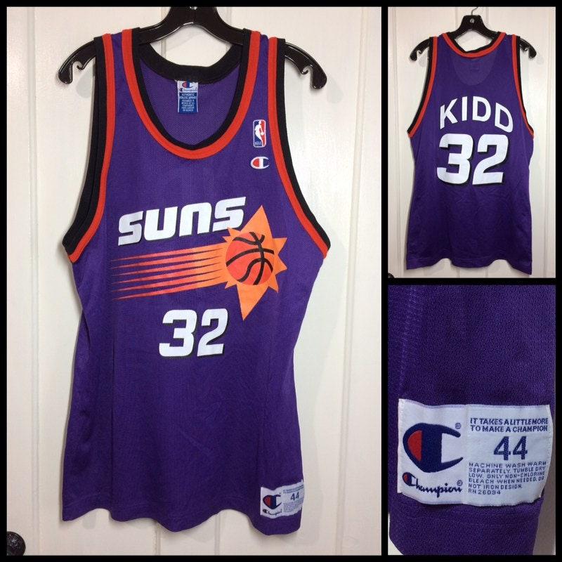 374b7d728ace 1990s Phoenix Suns Jason Kidd number 32 NBA Basketball team ...