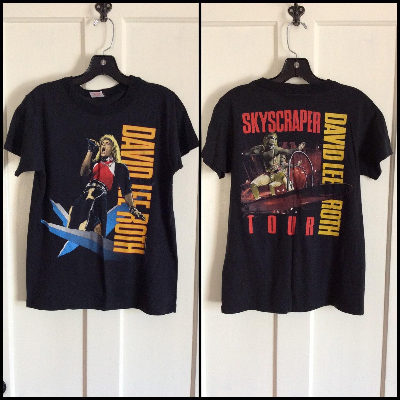 e73aad75454 David Lee Roth 1988 Skyscraper Concert Tour T-shirt size Medium