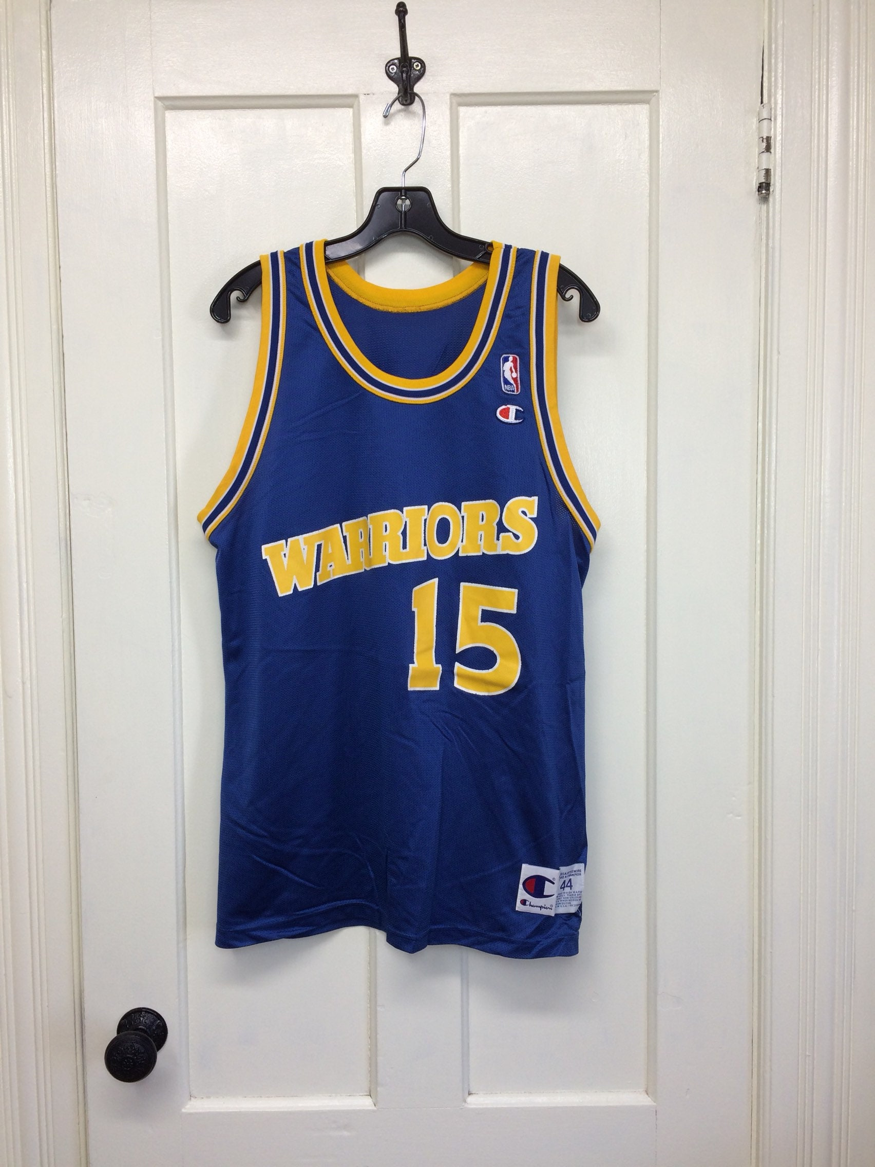 finest selection 430ee 2f0aa 1990s Latrell Sprewell Golden State Warriors number 15 NBA ...