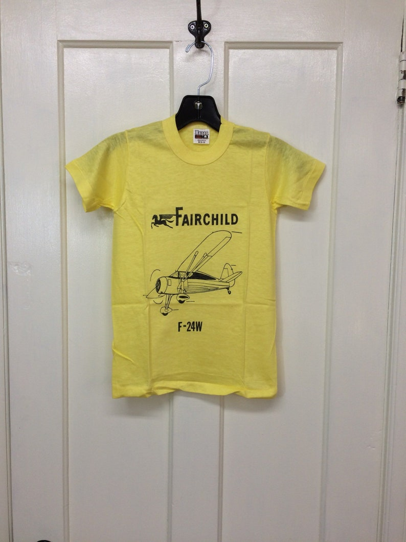 21387728 Kids deadstock Fairchild F-24W vintage airplane t-shirt youth   Etsy