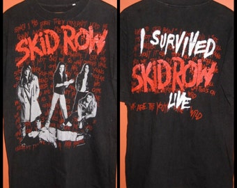 1990 Skid Row Concert Tour T-shirt We are the Youth Gone Wild with Lyrics Size Large 1990's