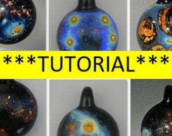 TUTORIAL - How to make a Borosilicate Nebula Galaxy Pendant Lampwork glass