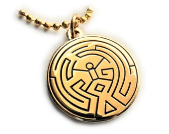 Westworld Maze Scalp Tattoo Symbol Pendant Necklace with Ball Chain