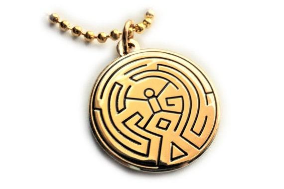 Westworld Maze Scalp Tattoo Symbol Pendant Necklace With Ball Etsy