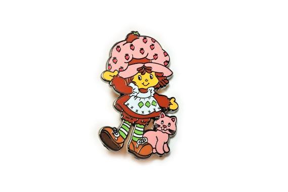 Strawberry Shortcake Hard Enamel 80 S Retro Cartoon 1 5 Etsy