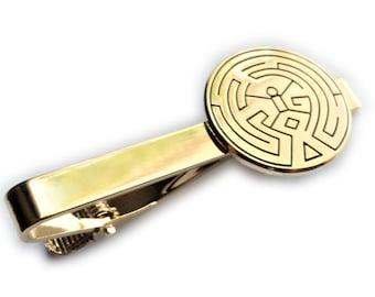 Westworld Maze Scalp Tattoo Symbol Suit Wedding Tie Bar Clip