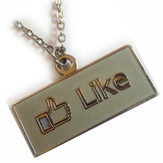 Facebook Thumbs Up Like Button Icon Symbol Charm Jacket Backpack Purse Bag Zipper Pull Clip