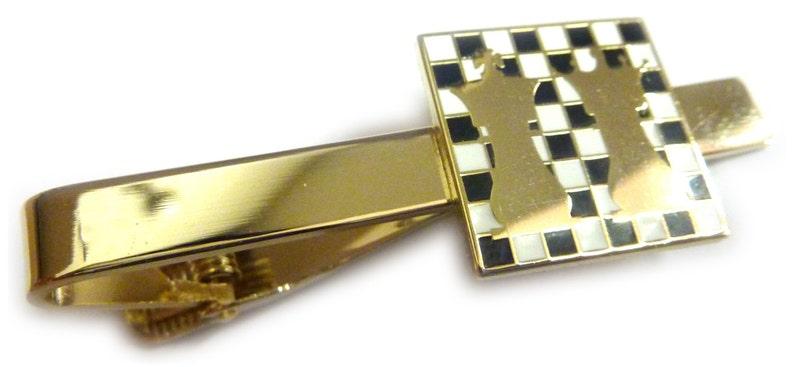 Chess Ajedrez King Queen Board Game Club Suit Work Wedding Tie Bar Clip