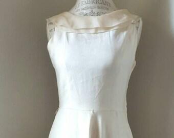 Vintage 90s Cream and Linen Dress
