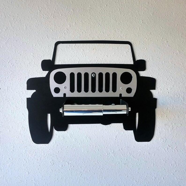 Jeep 4x4 Wall Decor Car Art Toilet Paper Holder Bathroom Man Cave Garage Automotive