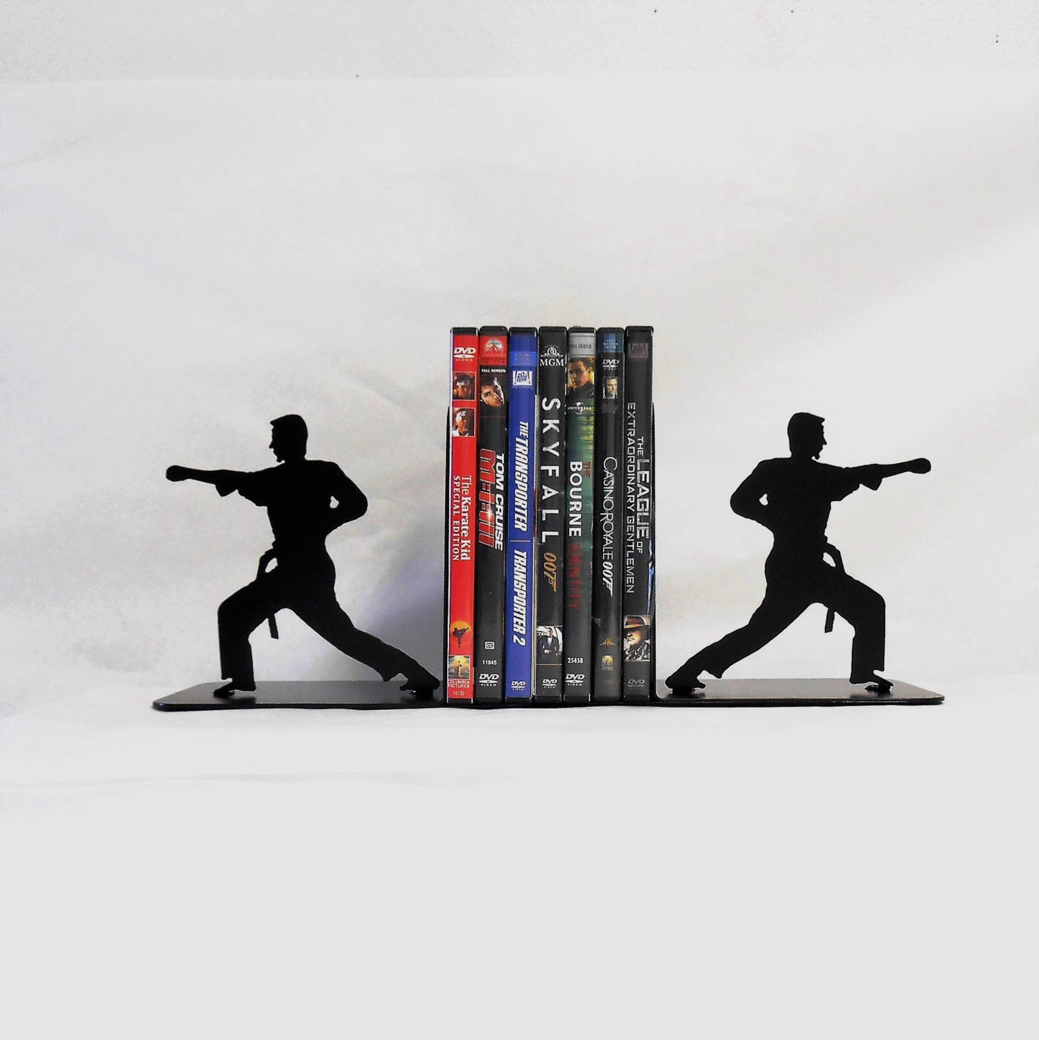 Karate, Martial Arts, Taekwondo, Metal Art Bookends, Hand Strike, Punch