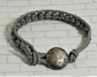 Leather and Bead Bracelet (520)  50% off