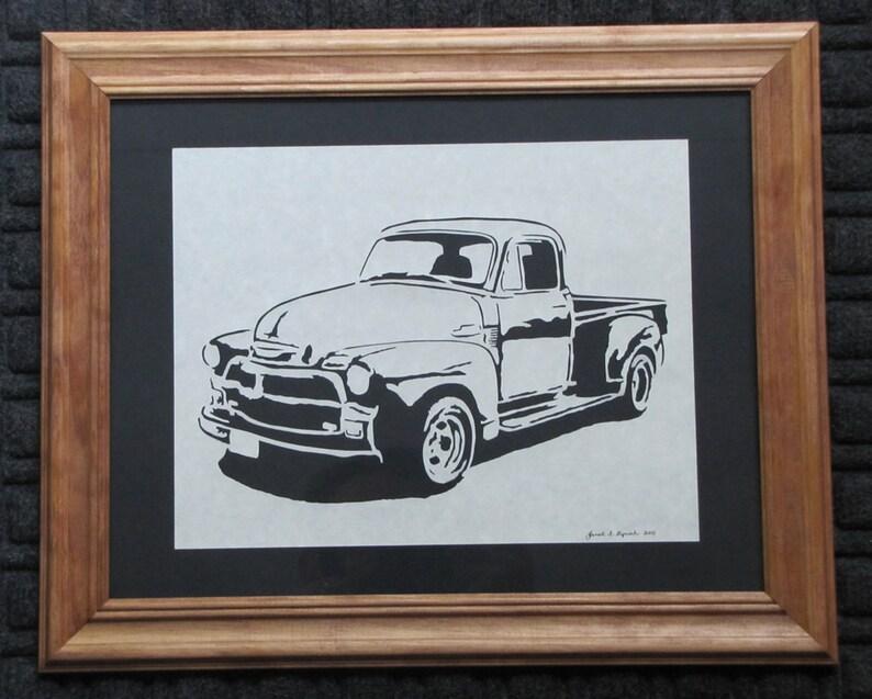Classic '53 Chevy Pickup   Scherenschnitte  Hand Paper image 0
