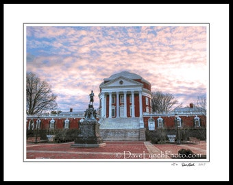 Charlottesville VA - University Of Virginia - UVA - Available In Color Black and White or Vintage Sepia - FineArt Photo Prints by Dave Lynch