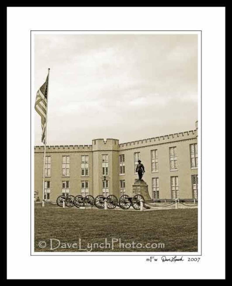 VMI,Lexington Va,Stonewall Jackson Monument,Lexington Virginia Art Photo,vmi frame,vmi keydets,virginia military institute by Dave Lynch