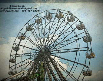 The Old Ferris Wheel - Virginia Beach ,Va - Fine Art Photography print by Dave Lynch - Free Shipping on any additional purchase