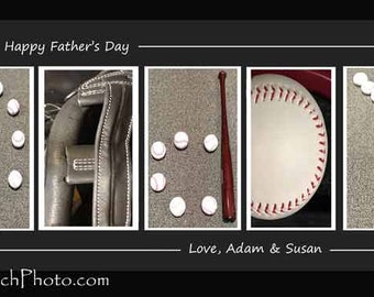 Father's Day BASEBALL Typography - Happy Fathers Day Daddy  -Quotes - Alphabet - Color - Black & White - Vintage Sepia- Photos By Dave Lynch