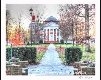 Lynchburg Virginia VA - Lynchburg College - Hopwood Hall circa 1909 - The Dell - Friendship Circle - Original Photo Prints By Dave Lynch