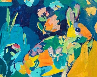 Change of Season: Bunny and Squirrel Painting