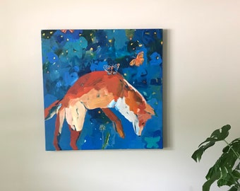Keep Dreaming: Large Fox Painting