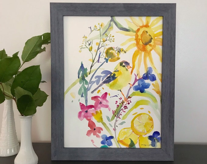 Featured listing image: I Spy Something Yellow: Original Watercolor