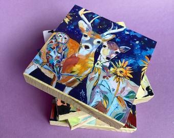 Holding Onto Wonder: Limited Edition Woodblock Print