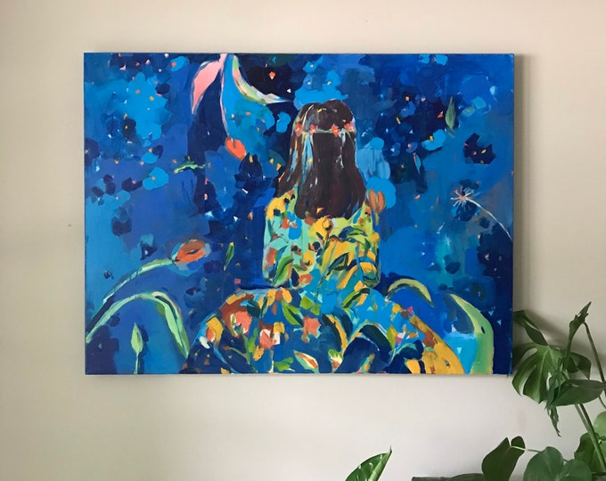 Featured listing image: Beauty in Each Day: Large Original Painting