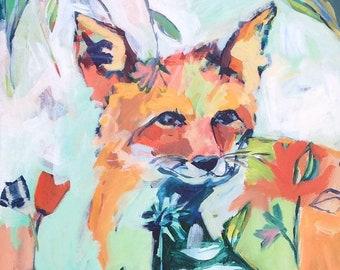Hide and Seek: Fox Art Print