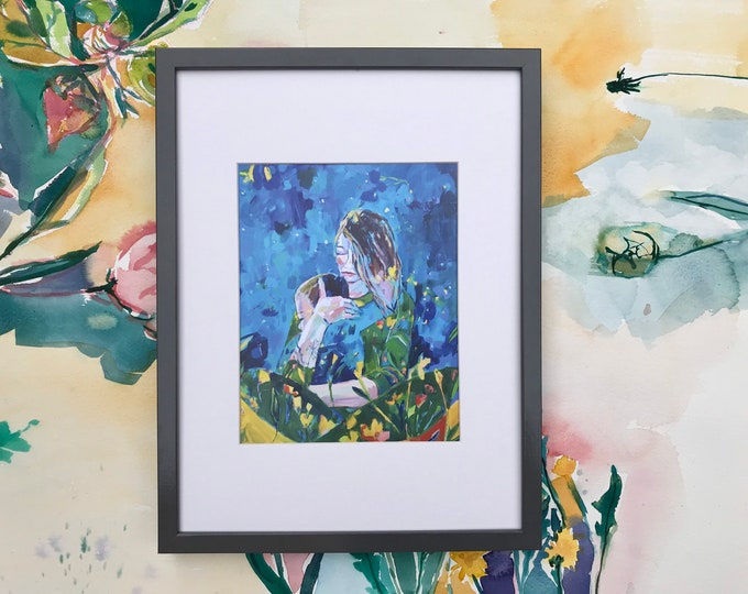 Featured listing image: Sit Down, Mommy: Art Print on Paper