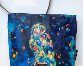 Shines Through: Purse with Original Painting