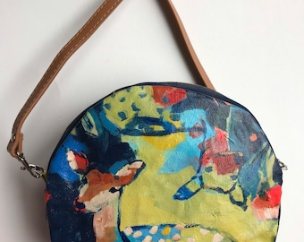 Discoveries, Purse with Original Painting of Deer