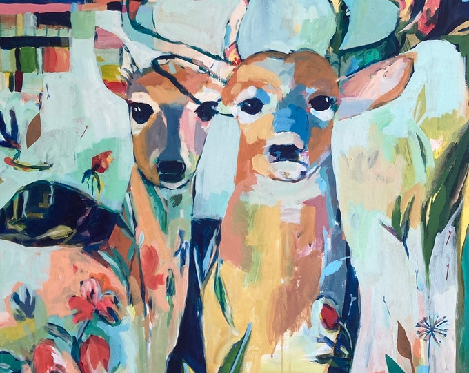 Featured listing image: Beauty to Behold: Original Deer Painting